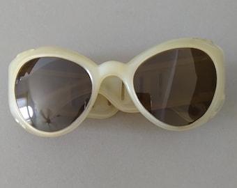Vintage European 1950s Sunglasses; Mid-century Sunglasses; Retro Cat Eye Sunglasses