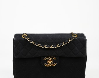 f6e5004b6a0798 Vintage Chanel Quilted Canvas Maxi