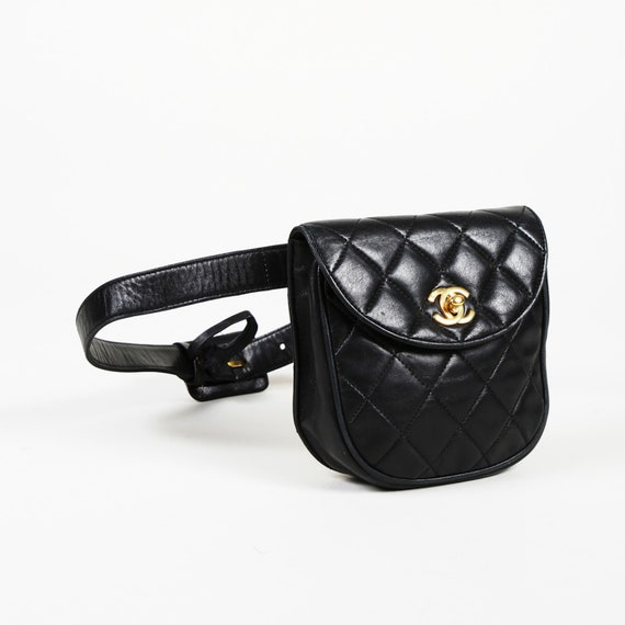 23cbc37478 Vintage Chanel Quilted Lambskin Leather Belt Bag