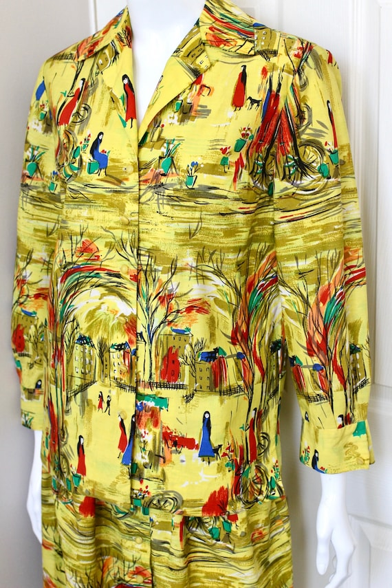 SAMBO FASHIONS yellow gorgeous print blouse skirt