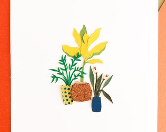 Bohemian Decorative Tiny Poster - Floral Paper-Cut Wall Art - For Living Room Cozy Poster - Minimalist Floral Wall Art - Tiny Cactus Poster