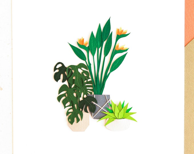 Botanical Tiny Poster, Stair Wall Decor, New House Gift, Aurantiaco Avem