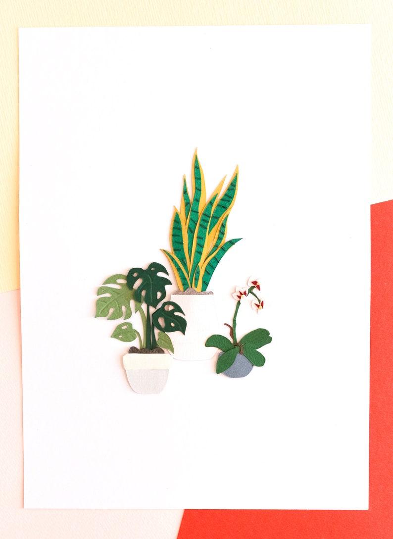Wall Decor with Plant Bohemian Art Wall Accessory Delicata image 0
