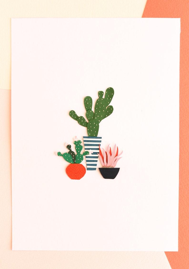 Wall Art Deco Handmade Gift Plant Posters Minimum Amicos image 0