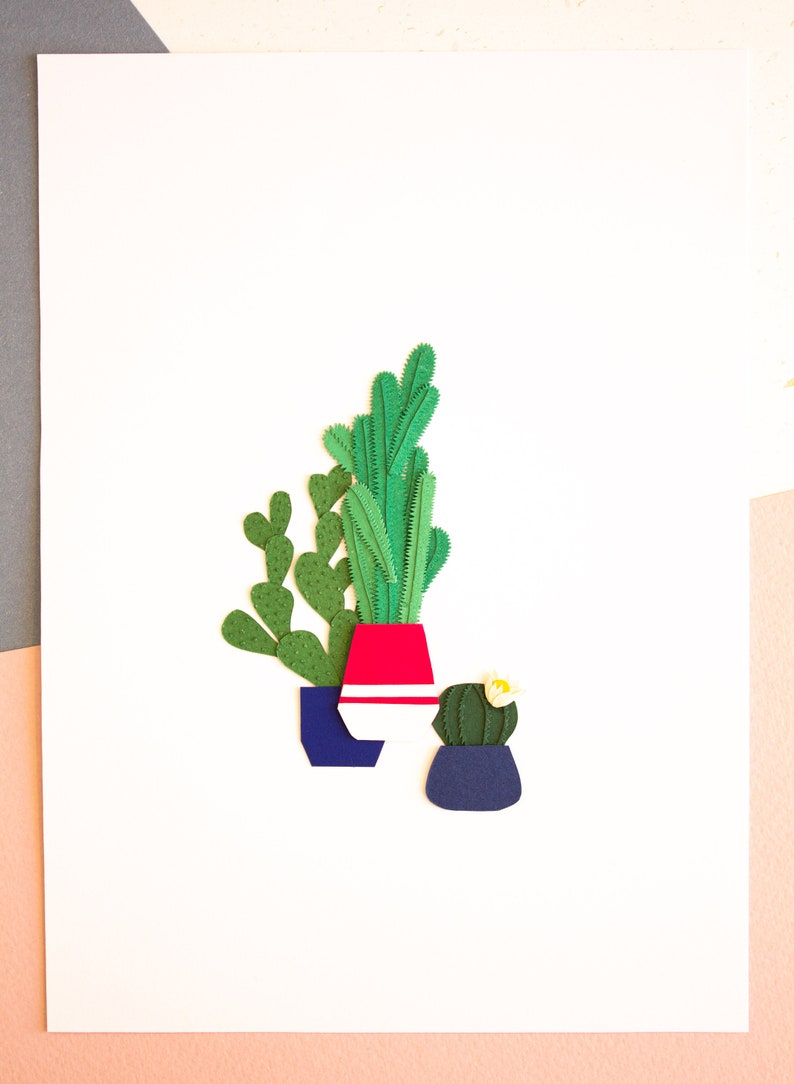 Minimal Tiny Plant Poster Floral House Decor Rosea Acantha image 0