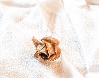 Origami Rose Kanzashi