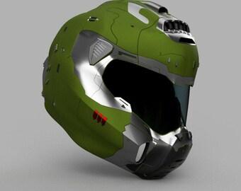 Doom Guy Helmet Etsy