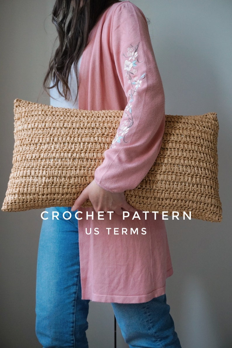 CROCHET PATTERN / US terms / crochet cushion cover /  the image 0