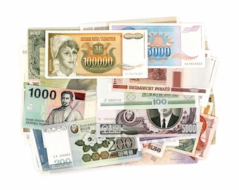 Lot Set 10 PCS Beautiful banknotes from Different Countries gift,UNC Maldives