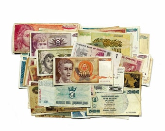 Donald Trump red maga hat re-elect President USA fantasy paper money Set 6 diff