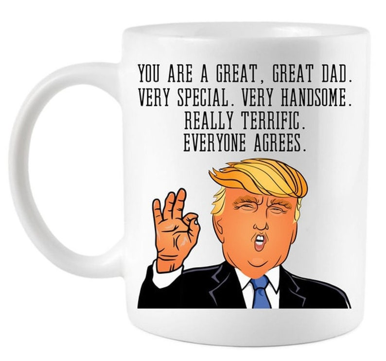 16851f95270 Funny Donald Trump Father's Day Dad Coffee Mug Best | Etsy