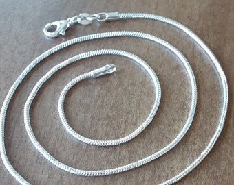 BULK 10 Stainless Steel 17 Snake Chain with Lobster Clasps C972