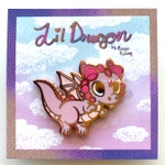 Lil Pink Dragon Pin
