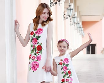 ed675235e6 Mommy and me outfits matching dress floral maxi dress girl dresses mom and daughter  long summer outfit