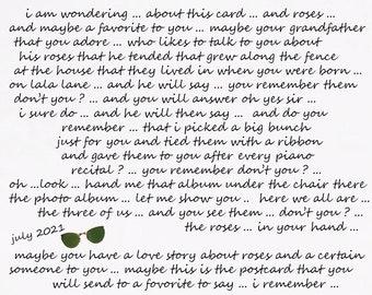 greeting collectible postcard original affection love romance friendship send flowers roses good luck graduation roses a love wish kiss best