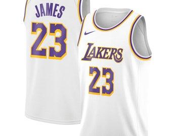 41914b6b58c Men's Los Angeles Lakers LeBron James Nike White Swingman Jersey –  Association Edition