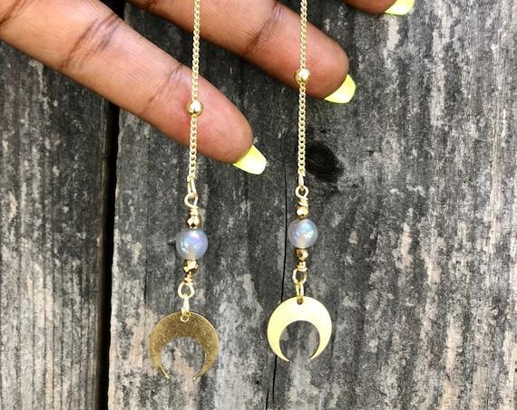 Moon Drop Dangle Earrings