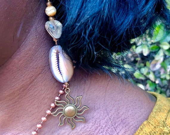 Find your Peace in the Sun Earrings - Intentionally Mismatched