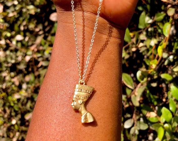 Nefertiti Necklace - Feminine Divine Wearable Art