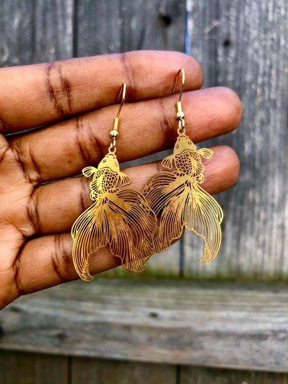 Koi ~  Gold Fish Earrings  Earrings