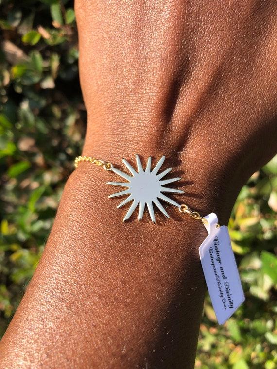 Sunburst - Gold Sun Ray Bracelet