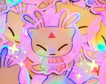 holographic alien aisha virtual pet stickers