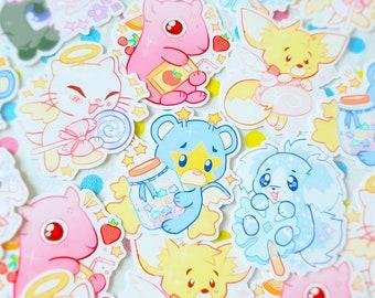 virtual pet petpet sweetie stickers (meepit, feepit, baabaa, ona, faellie, angelpuss)