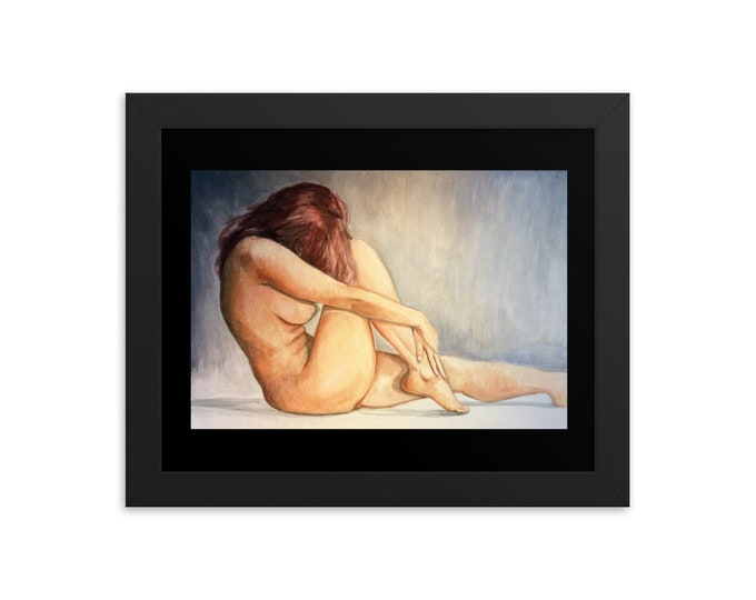 Featured listing image: The Redhead Fine Art Female Nude Print I Framed Fine Art Print I Wall Art