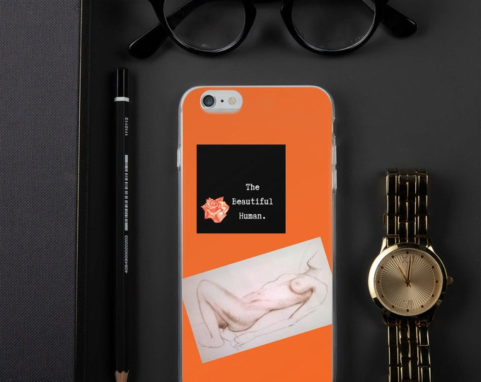 Featured listing image: The Beautiful Human Victoria iPhone Case Vintage Orange