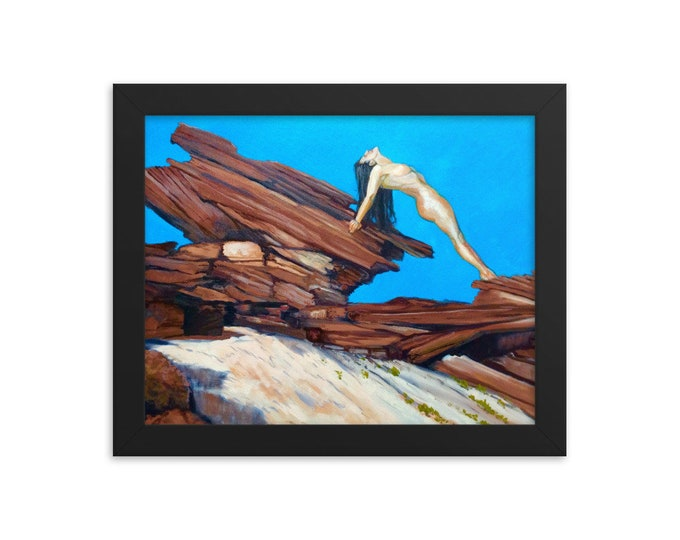Featured listing image: The Beautiful Human Red Rocks and Amanda Fine Art Framed Nude Print