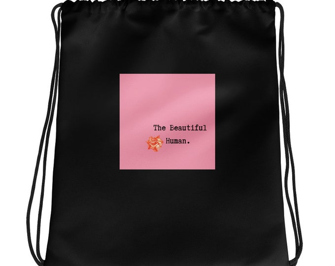 Featured listing image: The Beautiful Human Drawstring bag