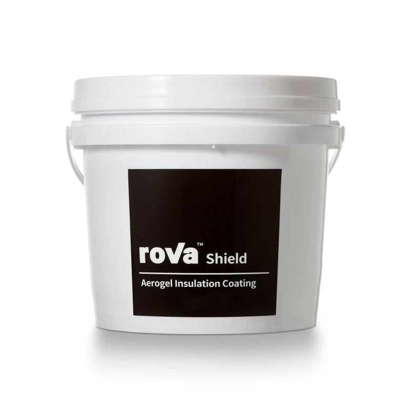 roVa Shield Aerogel Insulation Coating, Black Label, 1 Gallon (4 Liters)