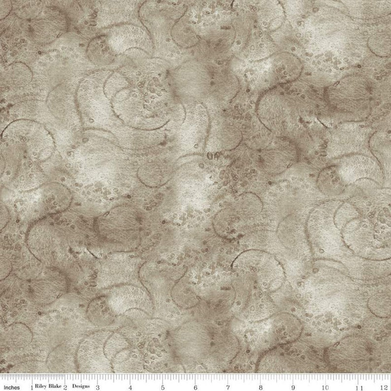Painter/'s Palette Swirl Gray by Riley Blake Designs Premium Quilting Fabric