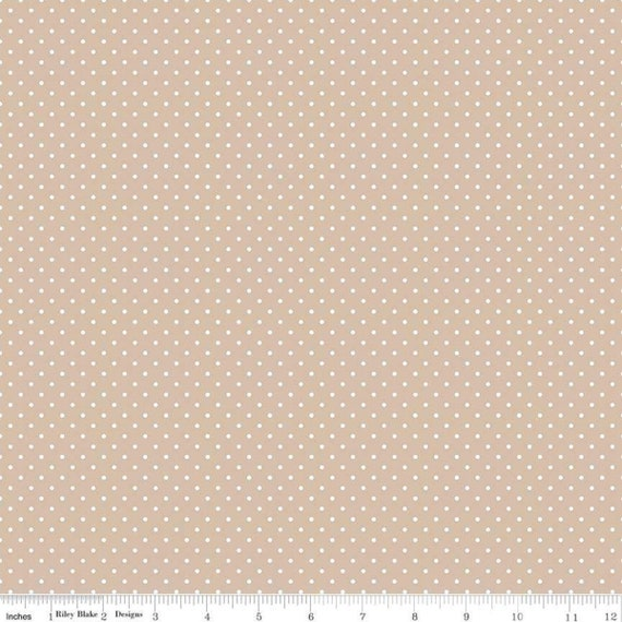 Fabric Yardage C660-BEACH Sold by Half-Yard Increments Swiss Dot Collection by Riley Blake Designs Swiss Dot Beach on White Print