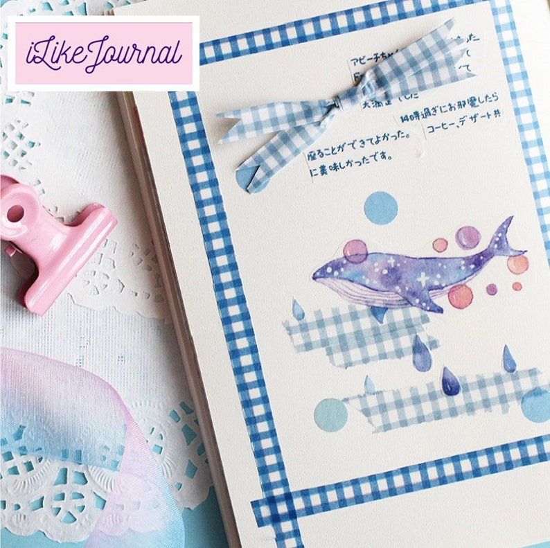 Solid Check 2019 daily weekly monthly planner bullet travel journal Japanese Vintage floral washi stationery Decoration tape set