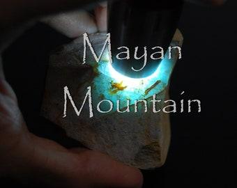 BLUE JADE LEAF  Princesa Jadeite  Leaf Shape  Macrame Necklace  Guatemalan Guatemala  Mayan Mountain