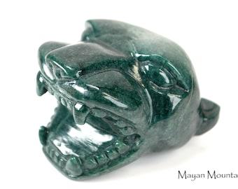 NEW! HUGE!!! // Mayan Roaring Jaguar // Jaguar Green Jade // Large Sculpture, not a Necklace Pendant! // Mayan Mountain