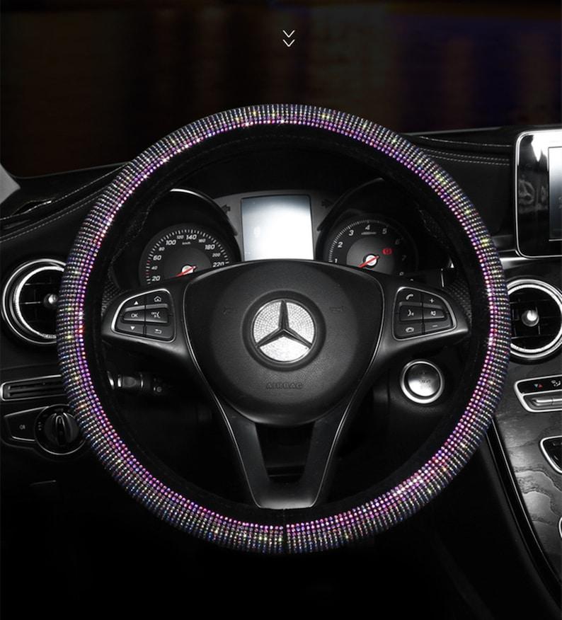 Bling Glitter Diamond Car Steering Wheel Cover Shiny Crystal image 2