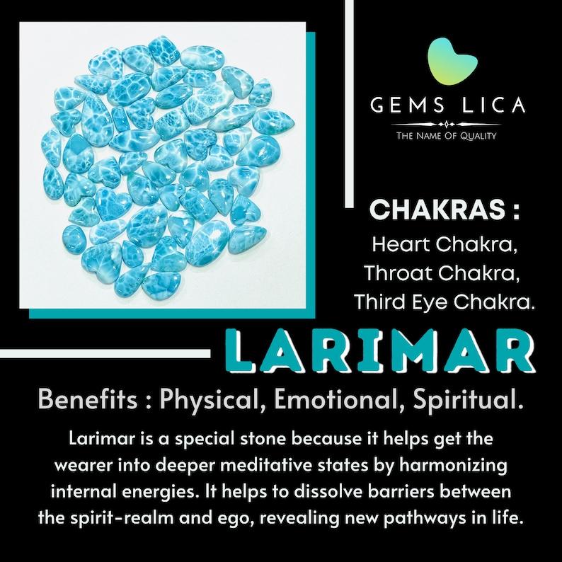 Hand Polish Larimar Stone For Healing Power To Make Unisex Jewelry AAA Quality Blue /& White Larimar Oval Shape Cabochon Loose Gemstone