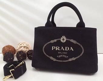 71029c2f4902 28cm size black canvas Large Tote Hemp fabric handbag canapa shopping bag  nero gold metal fittings summer bag