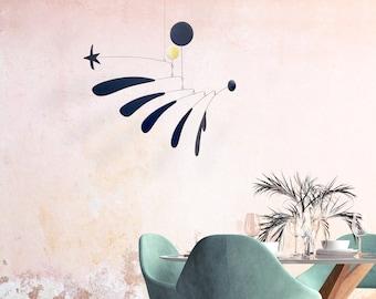 a New Spirit   Midcentury Modern Hanging Mobile   Art mobile   kinetic sculpture   home decor