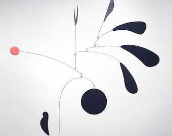 Euphoria I   Midcentury Modern Hanging Mobile   Art mobile   kinetic sculpture   home decor