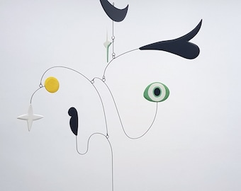 Joie de Vivre III   Midcentury Modern Hanging Mobile   Art mobile   kinetic sculpture   home decor