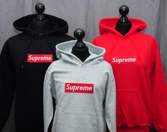 b28e44b9c0f Supreme kids hoodies   Etsy