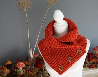 Fabulous Ribbed Cowl Scarf - Knitting Pattern - PDF in 4 languages: US & UK English, German and Dutch