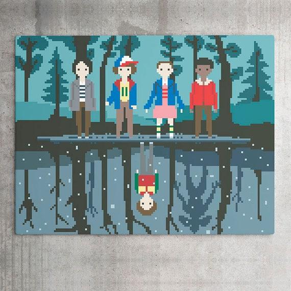 Stranger Things Printable Wall Art Pixel Art Digital Download