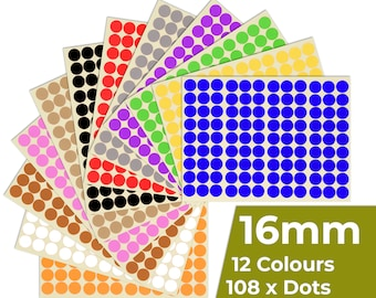 490 Red 8mm Sticky Coloured Dots Easy Peel Self Adhesive Colour Coding Sticky Dots