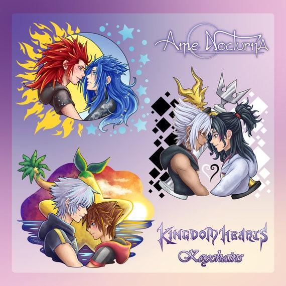 Kingdom Hearts Saix Acrylic Star Key Chain Anime Manga NEW