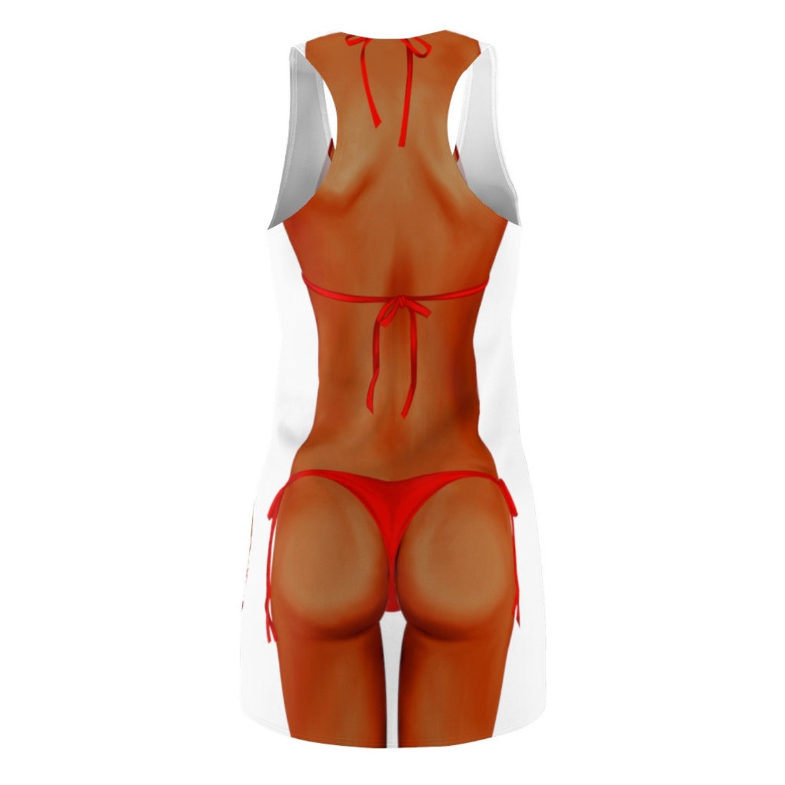 Vacation Olive Skin Tone Red Bikini-Cover Up ON SALE