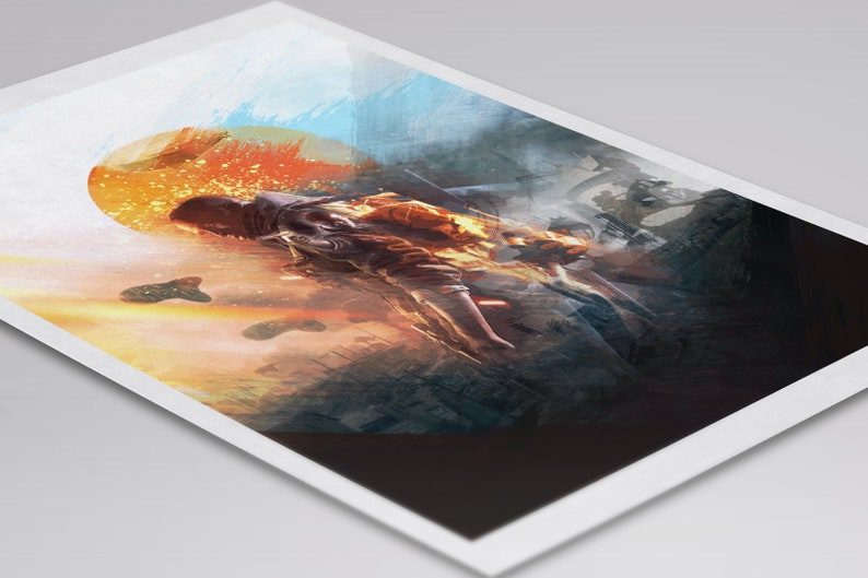 Battlefield gaming poster game room print decor